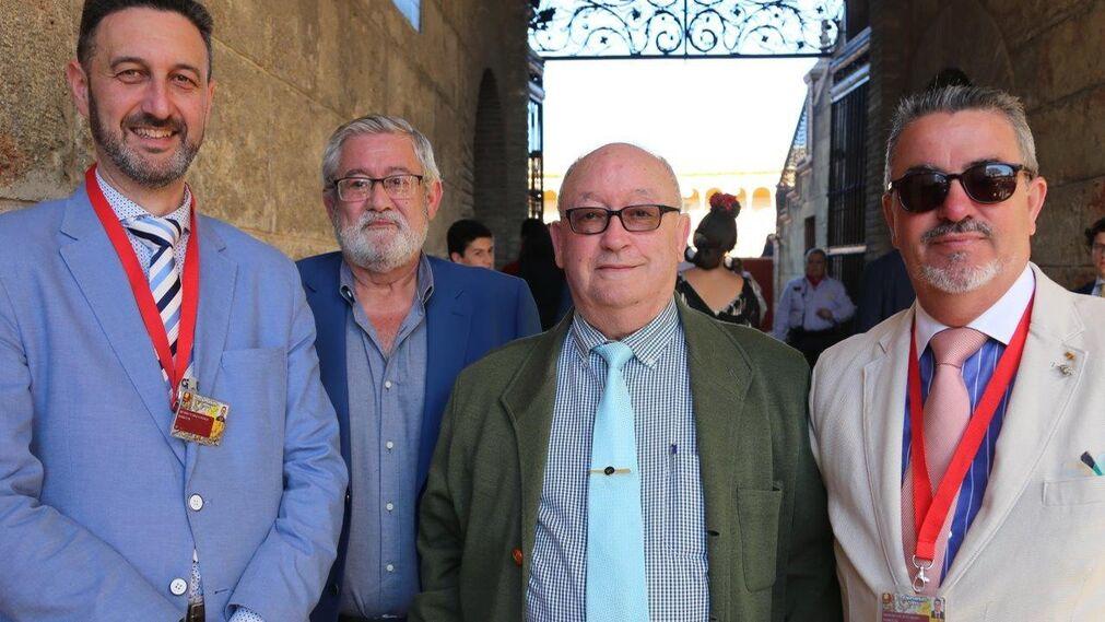 Una saga familiar en la Maestranza, Ricardo Guerle, Rafael Romero, Carlos Ruiz y Paco Ruiz