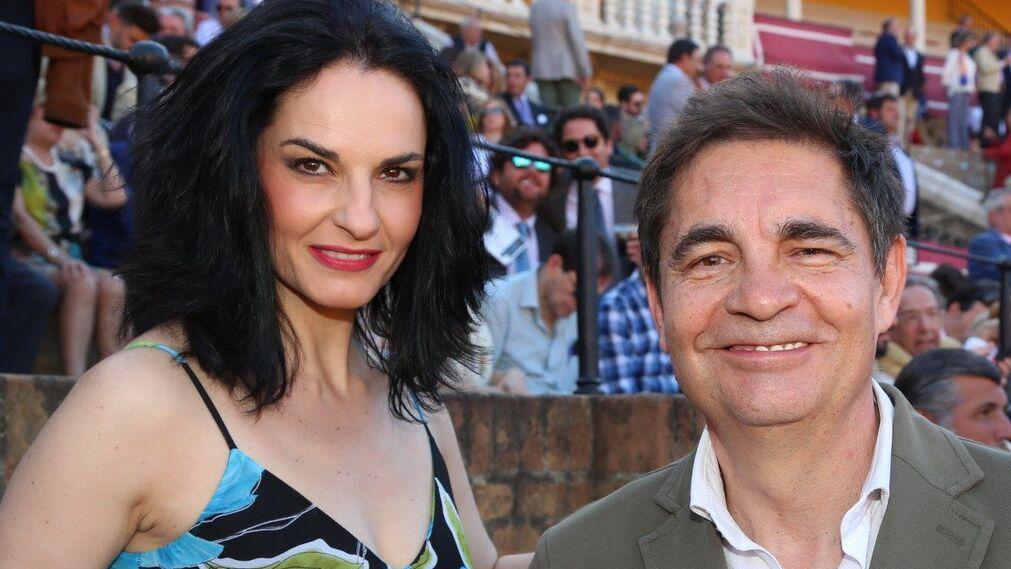 La bailaora Pilar Astola y el periodista de Canal Sur Rafael Cremades