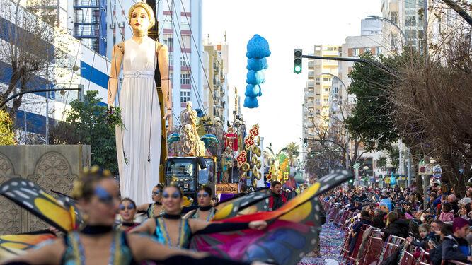 Un momento de la cabalgata magna del pasado Carnaval.