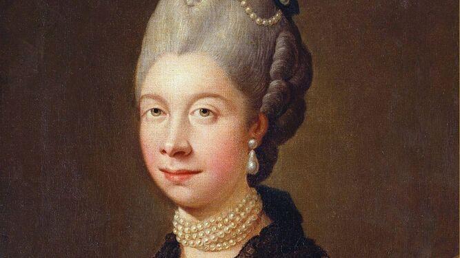 La reina Carlota retratada por Ramsay.