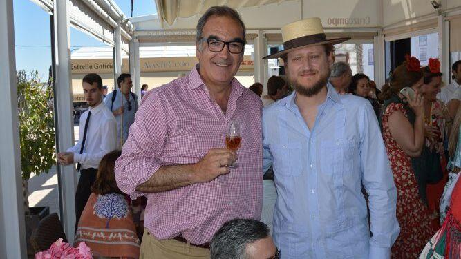 Antonio Barbadillo con José Zamoysky-Borbón