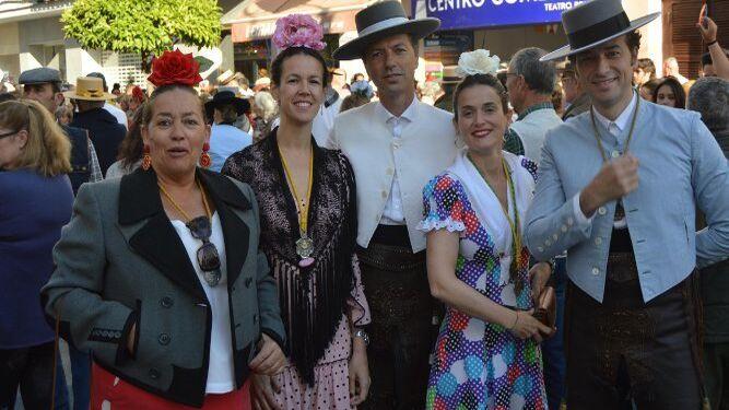 María Luisa Lavado, María Ferraro, Álvaro Mesa, María Cuquerella y Gerónimo Ángulo.
