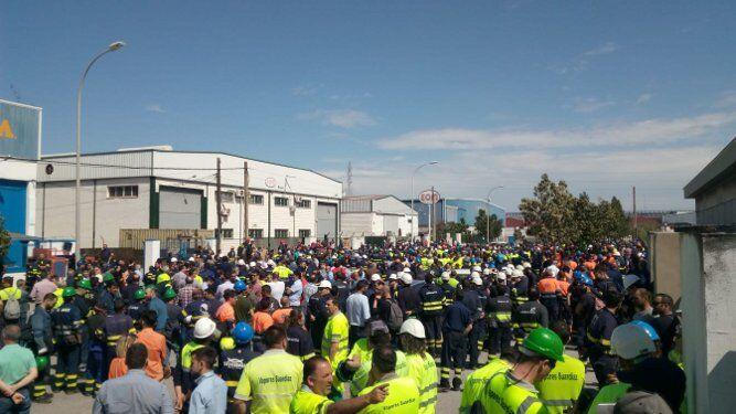 La plantilla de Puerto Real se acercó hasta el lugar.