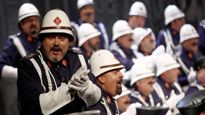 Un momento de la actuación del coro de Quizo Zamora el pasado año.