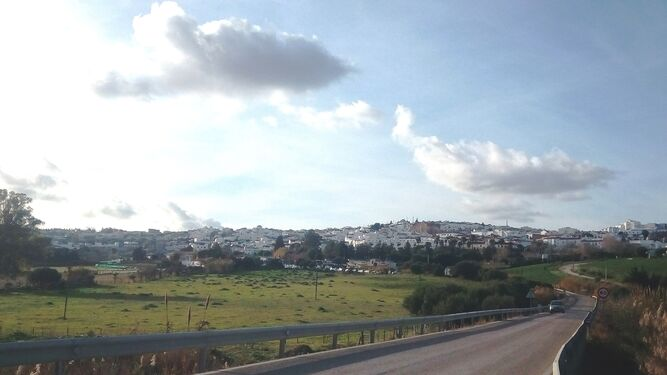 Vista panorámica del municipio jandeño de Benalup.