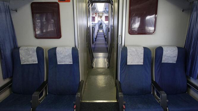 Imagen del interior de un tren Altaria.