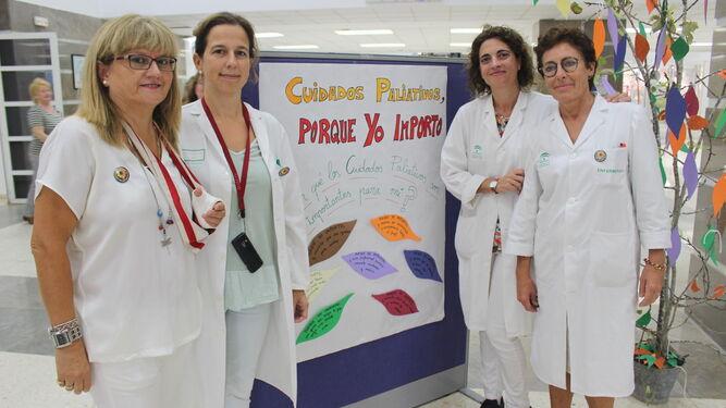 Toñi González, Belén Domínguez, Eugenia de la Hoz y Pilar Balbuena.