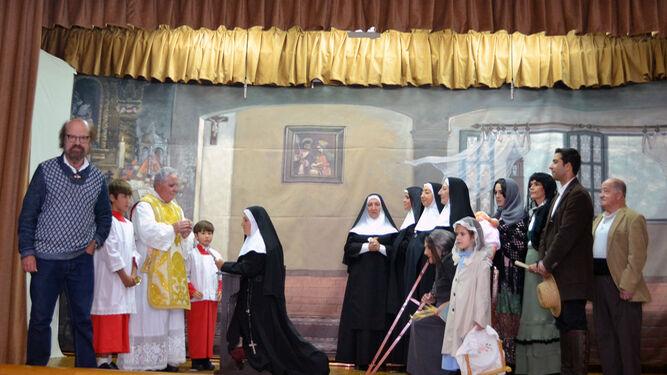 El logro de la representación recoge fielmente la pintura de Jesús Cuesta Arana.