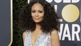 <p>Thandie Newton, de Michael Kors.</p>