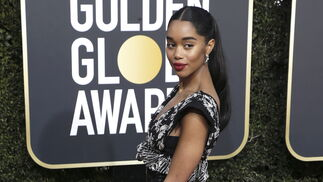 <p>Laura Harrier, de Louis Vuitton.</p>