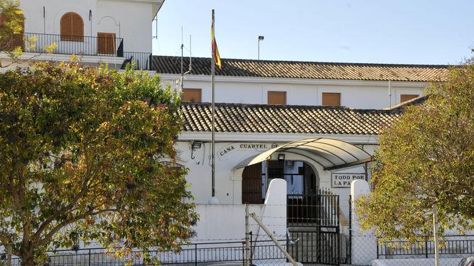 Fachada del Puesto de la Guardia Civil de Arcos de la Frontera.