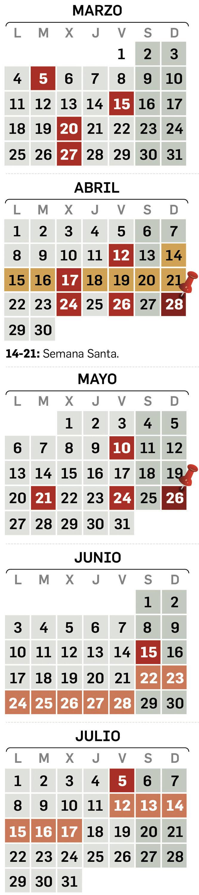 Calendario Elecciones Generales 2020.Calendario Electoral 2019