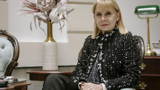 57a85e3c95 María Victoria Alcaraz, directora del Teatro Colón de Buenos Aires, en el  Hotel Las Cortes de Cádiz.