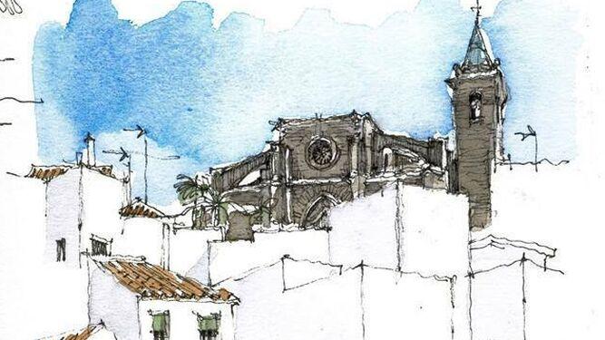 Uno de los dibujos de  Luis Ruiz presuntamente plagiados.
