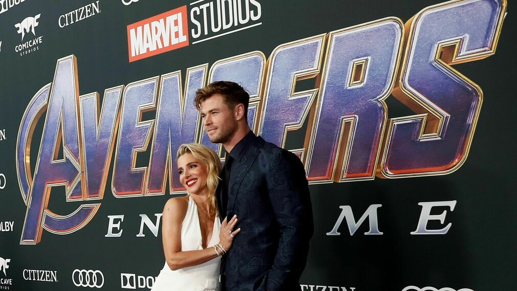 <p>Elsa Pataky y Chris Hemsworth</p>