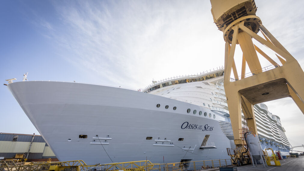 Reparación del 'Oasis of the Seas' en Navantia Cádiz
