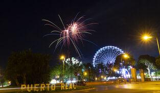 Función de fuegos artificiales de la Feria de Puerto Real