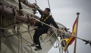 Durante la preparación en la Bahía de Cádiz.