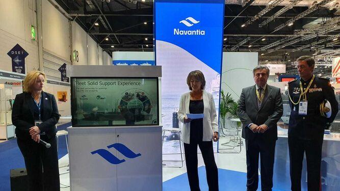 Acto de presentación de la propuesta de Navantia para la Royal Navy en la Feria DSEI 2019, en septiembre.