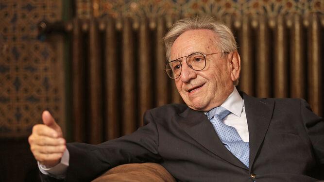 Pedro Miguel Lamet, en un momento de la entrevista