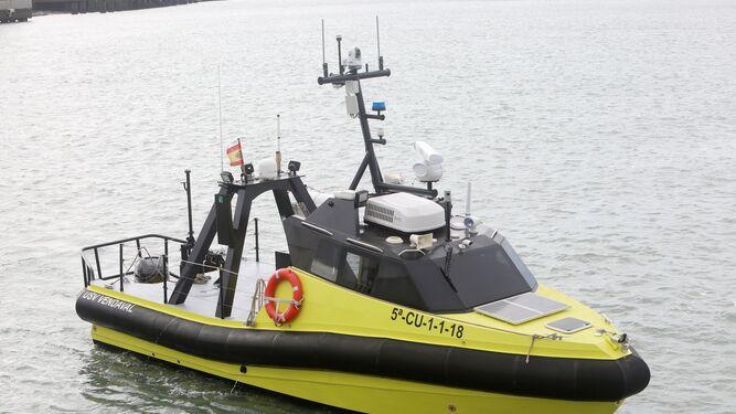 El 'USV Vendaval', que equipa los sistemas de navegación autónoma desarrollados por Navantia.