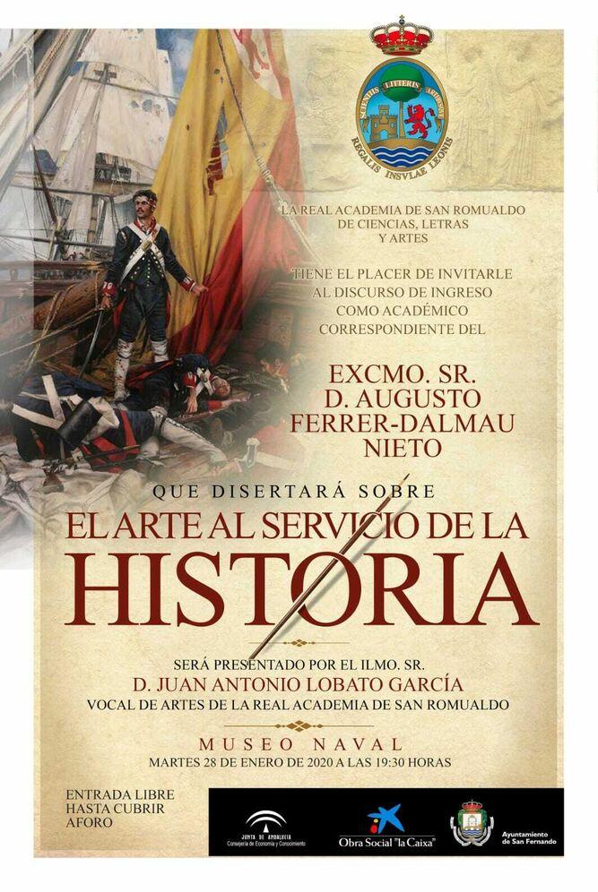 Cartel anunciador de la conferencia de Ferrer Dalmau.