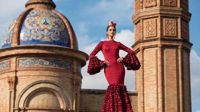 Los trajes de flamenca de Carmen...