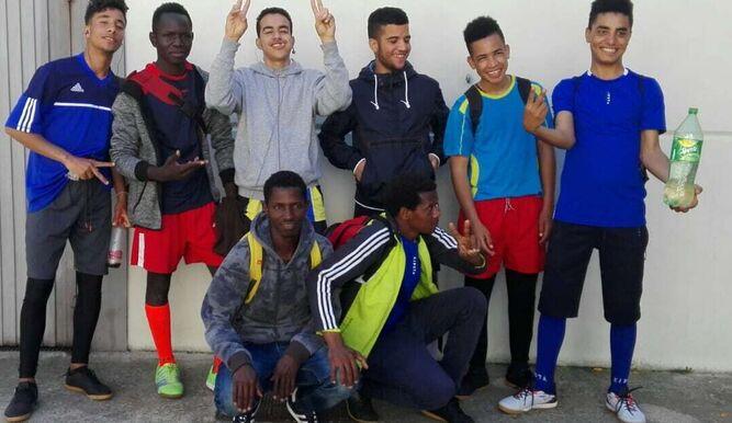Jóvenes inmigrantes de la Red.
