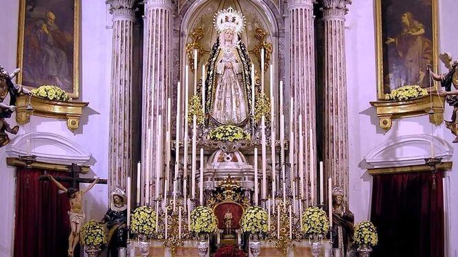 Altar de cultos de la Virgen de las Angustias de Ecce-Homo