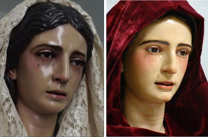 La imagen de Badajoz (izquierda) y Soledad de Vera-Cruz de Cádiz