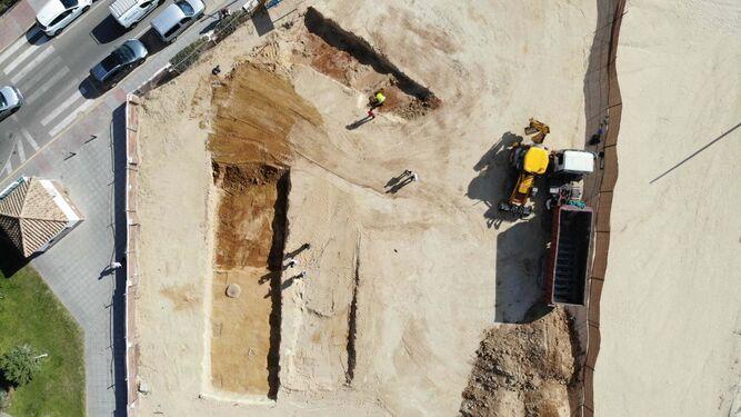 Una imagen aérea de la zona donde se desarrollan los trabajos.