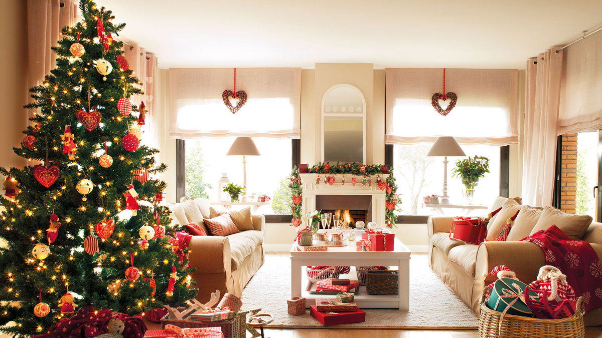 Diez ideas de decoración de Navidad...