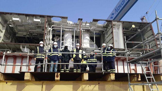 El comité de Navantia Puerto Real impide el embarque de un bloque de las corbetas saudíes