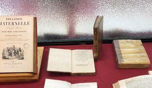 Algunas de las piezas custodiadas en el IES Columela