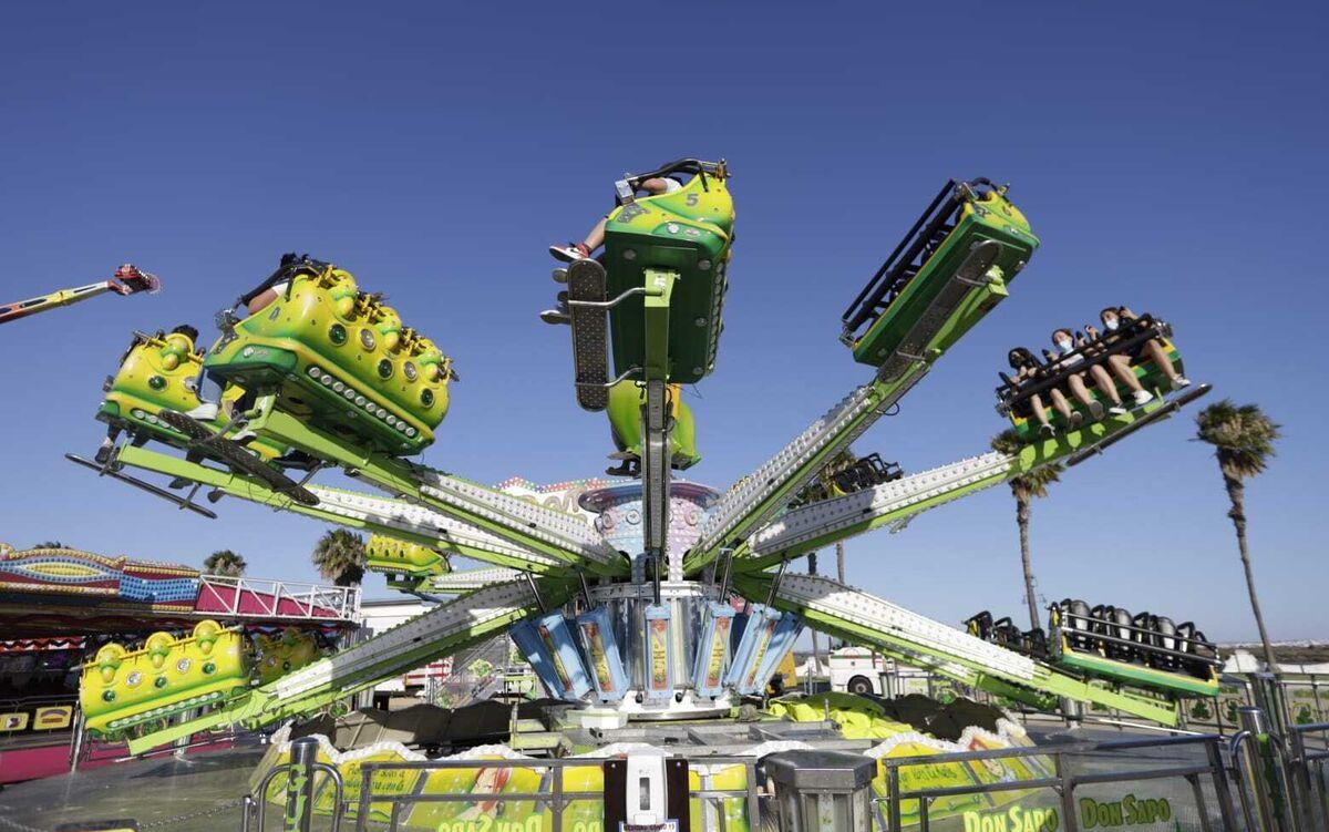 Atracciones de Vive Park instaladas en San Fernando.