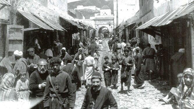 Calle de los judíos en la ciudad de Tetuán.