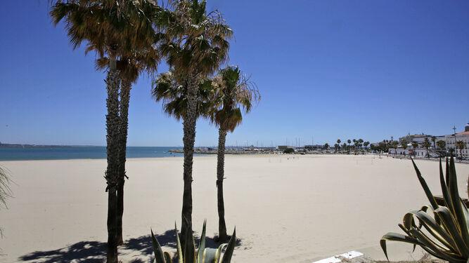 Playa del Rompidillo en Rota
